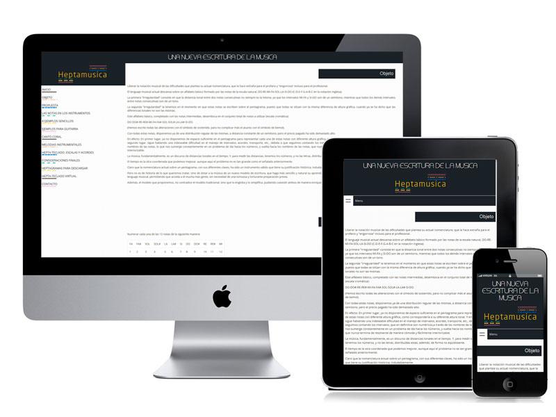 Diseño Web Heptamúsica