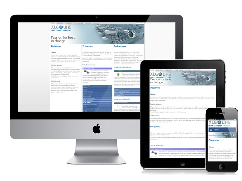 Diseño web XLG Heat Transfer