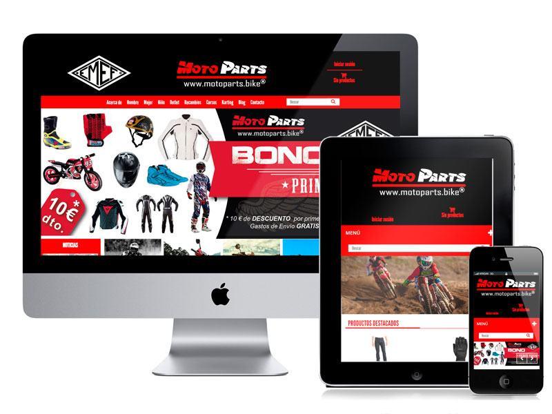 Diseño y desarrollo ecommerce MotoParts