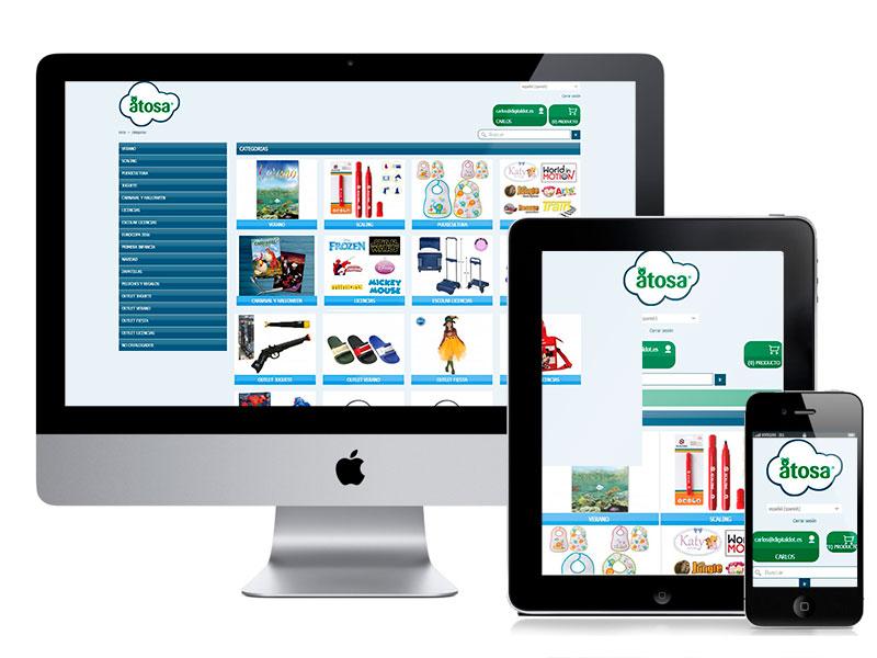 Diseño tienda Online Atosa