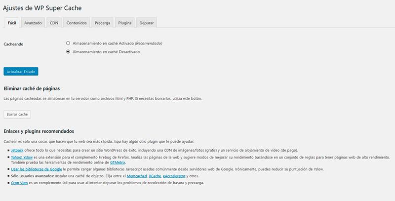 Plugin WordPress Super Cache