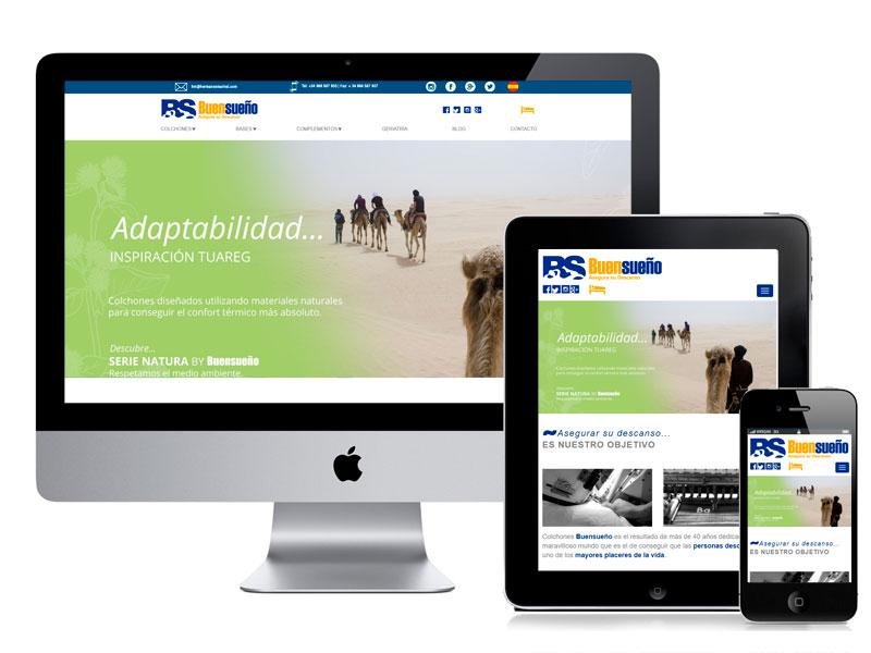 Diseño web tienda online Buen Sueño. digitalDot