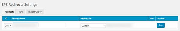 Colcoar la nueva dirección en el plugin de WordPress para redirección 301