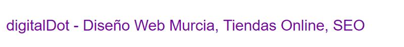 Diseño web Murcia con títulos y metadescripciones