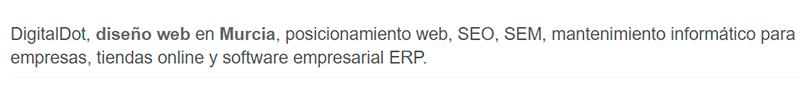 SEO para diseño web en Murcia