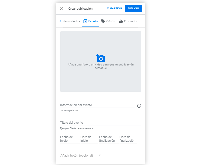 Crear ofertas en tu ficha de Google My Business