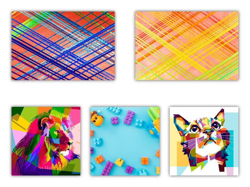 Colores en tendencias diseño gráfico. digitalDot