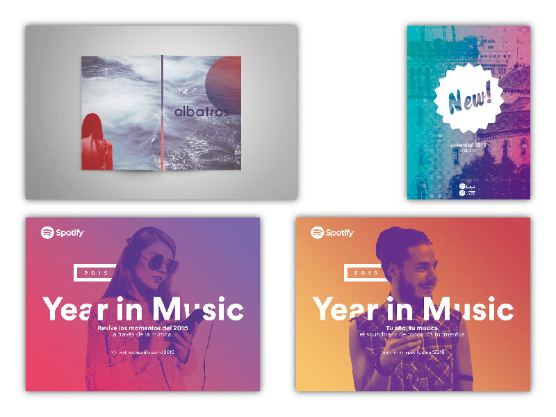 degrade en tendencias diseño gráfico 2019