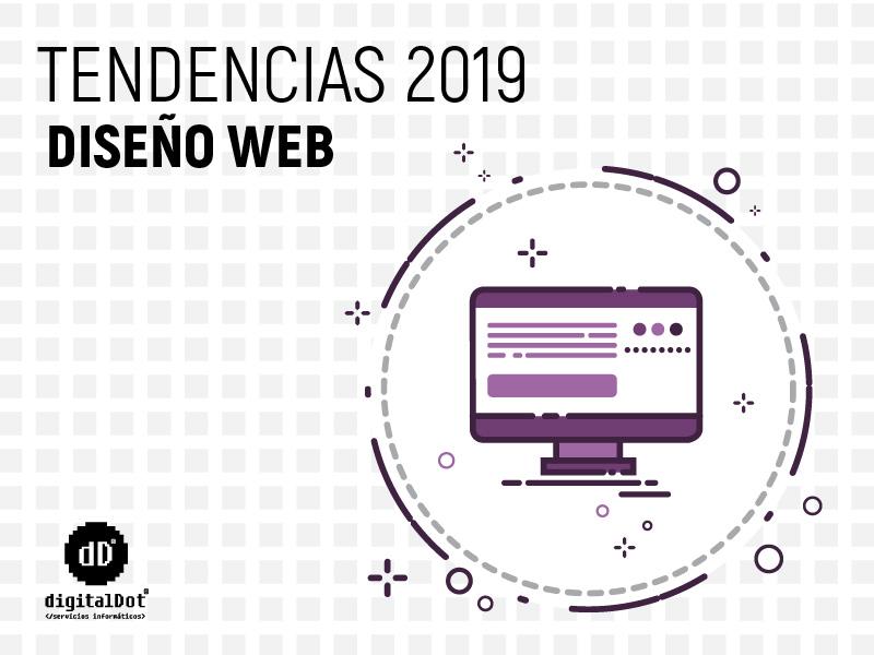 Tendencias diseño web 2019. digitalDot