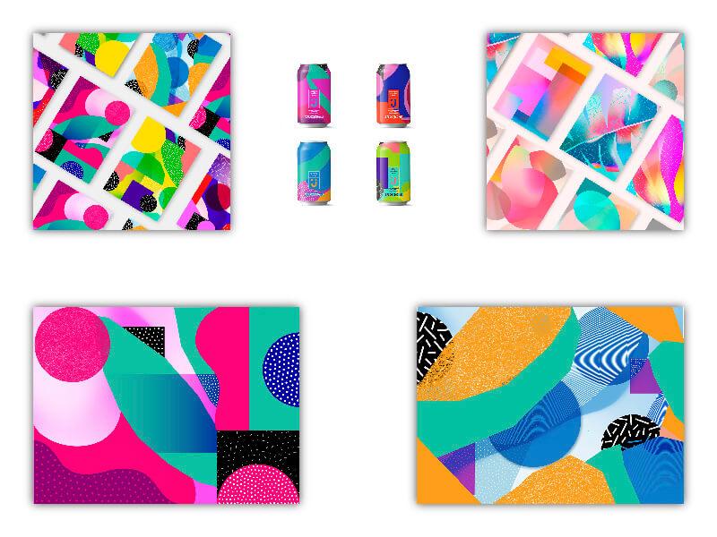 Tendencias diseño web. Colores brillantes