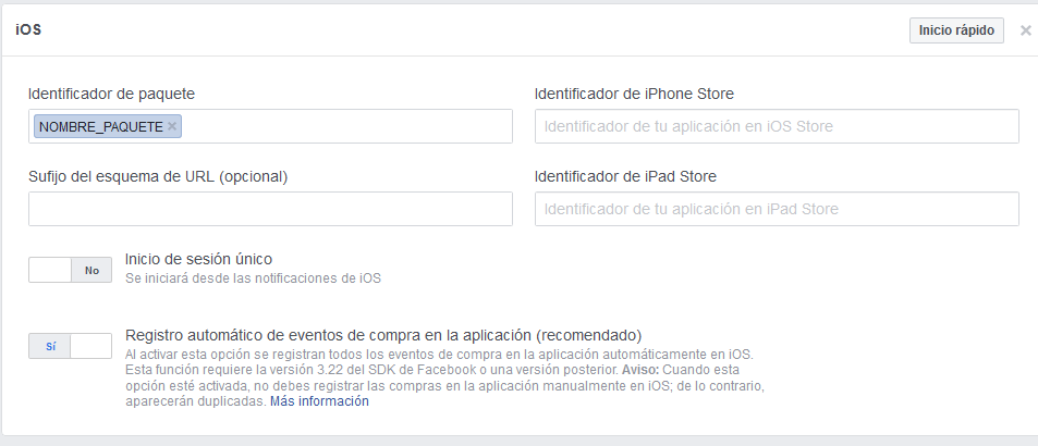 Integrar inicio app facebook. digitalDot