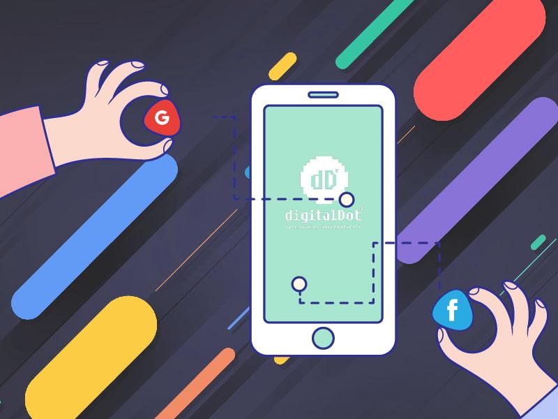 Integración de Facebook y Google en iOS. digitalDot