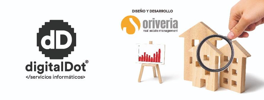 Diseño página web Oriveria. digitalDot