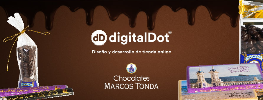 Diseño web tienda chocolates por digitalDot