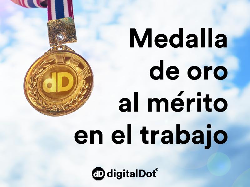 digitalDot medalla al mérito trabajo