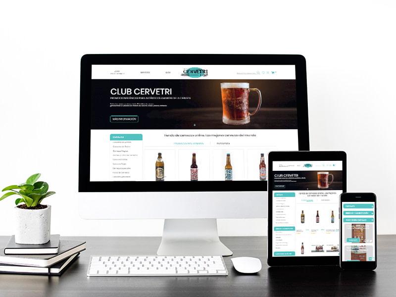 Diseño web tienda online Cervetri. digitalDot