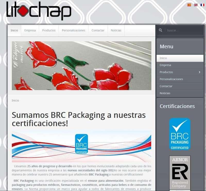 Diseño web antigua Litochap