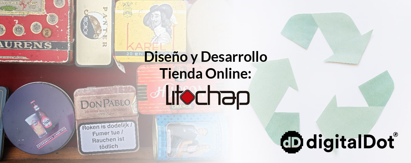 Diseño página web Litochap. digitalDot