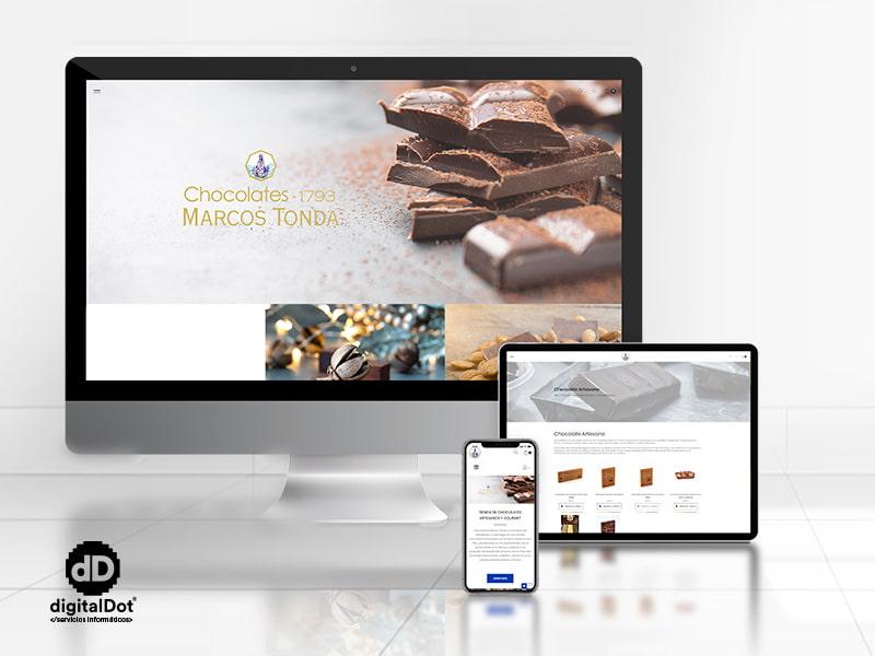 Diseño web tienda chocolates Marcos Tonda por digitalDot