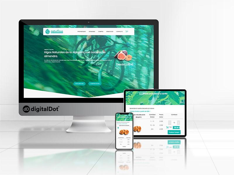 Diseño web de la tienda online Naturficus