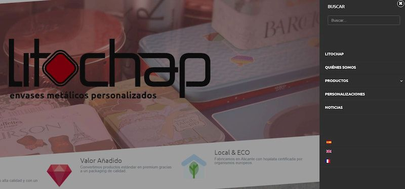 Diseño web multiidioma Litochap. digitalDot