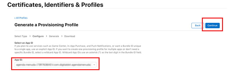 app id ios apple developer
