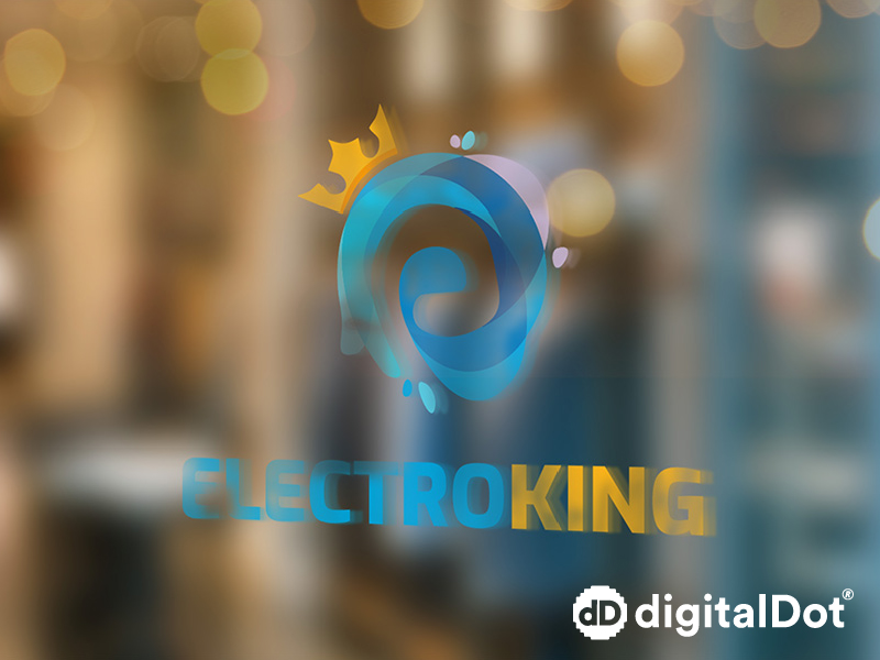 Diseño logo electroKing. digitalDot