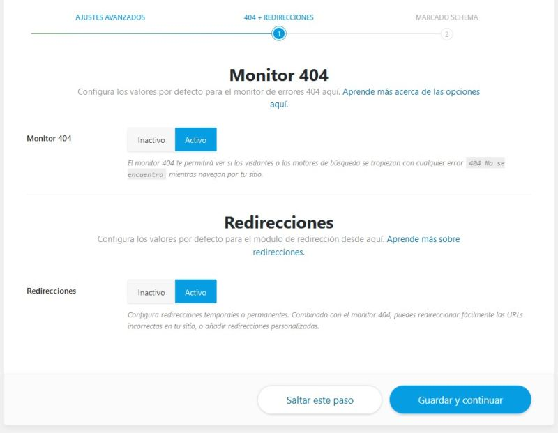 Redirecciones con plugin Rank Math