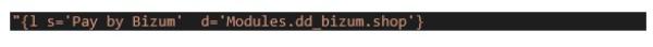 Traducir módulo Bizum. digitalDot