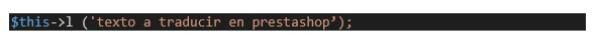 Traducir módulos de Prestashop 1.7