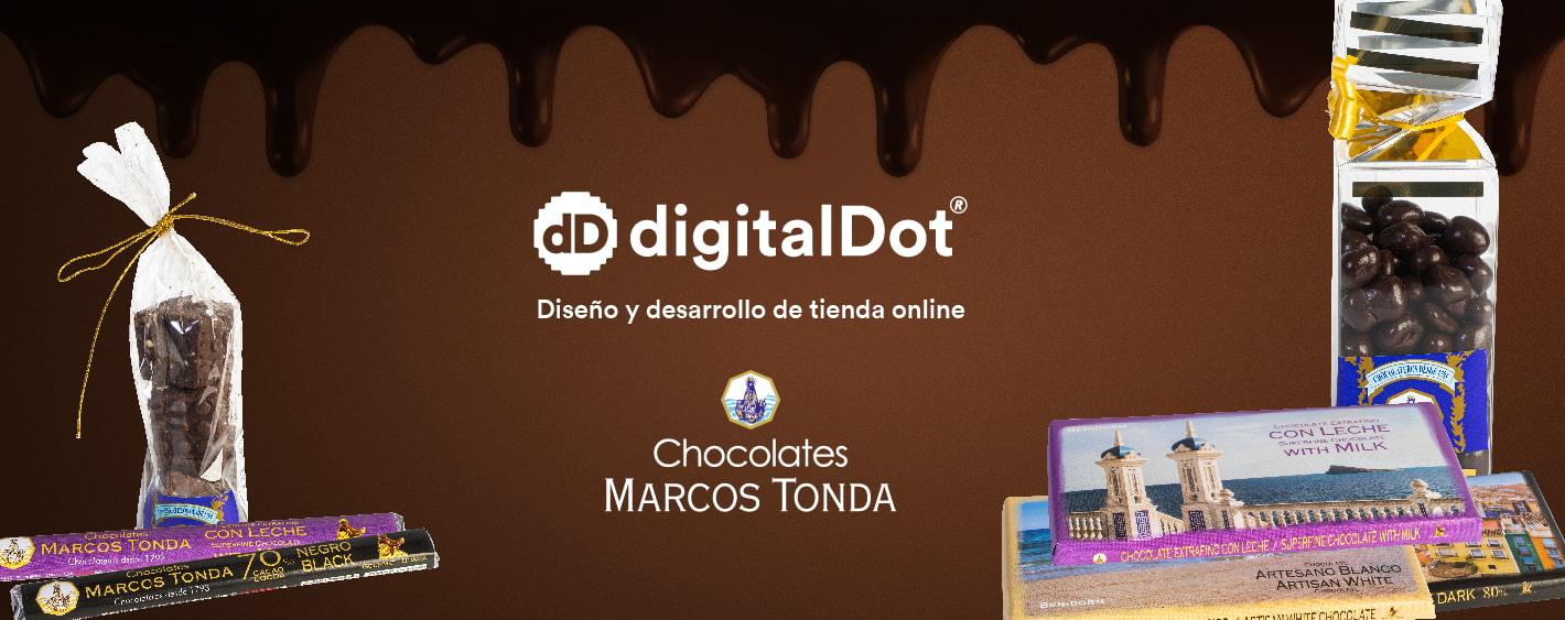 Diseño ecommerce chocolates. digitalDot