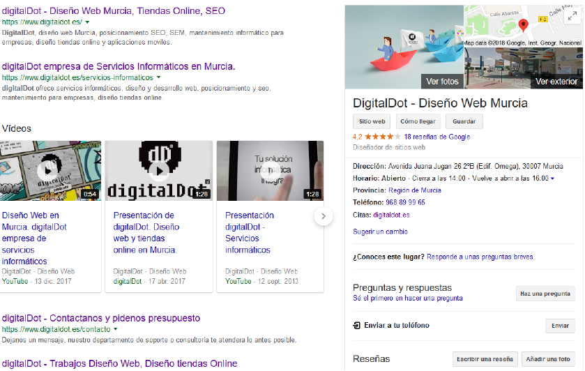 google my business opiniones