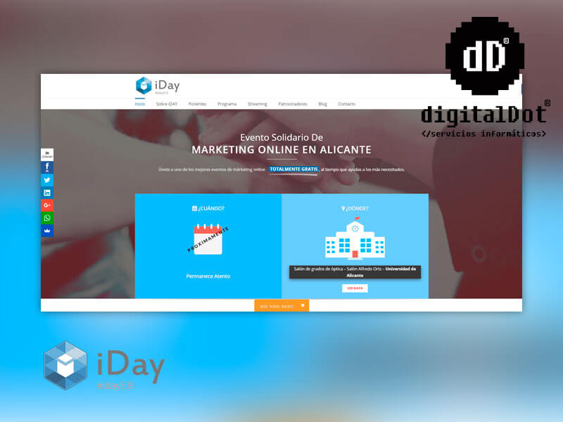 digitalDot en IDay en Alicante evento de SEO