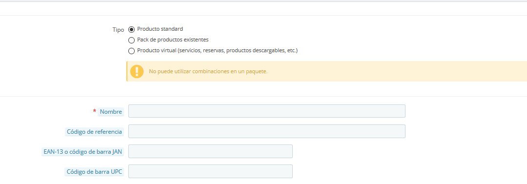 problemas base datos prestashop