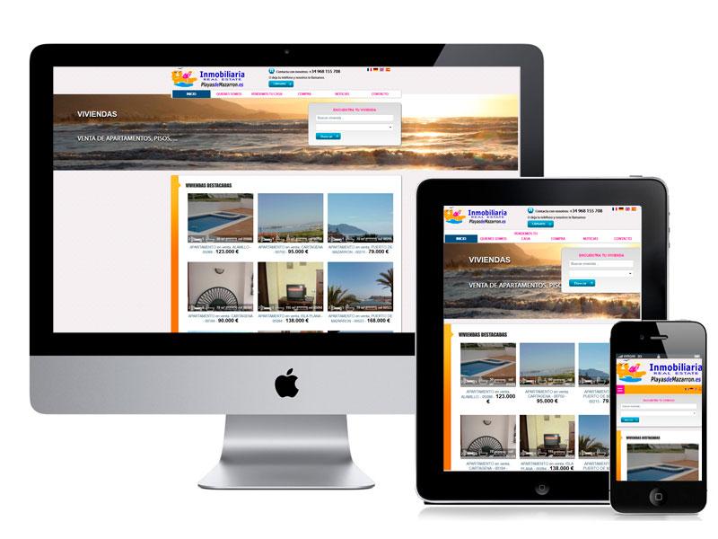 Diseño Web Playas de Mazarrón