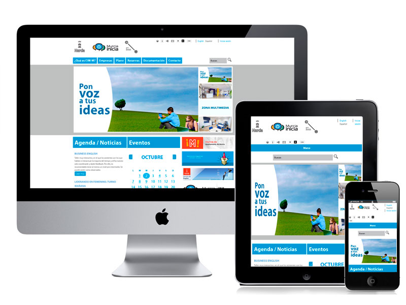 Diseño web CIM por digitalDot