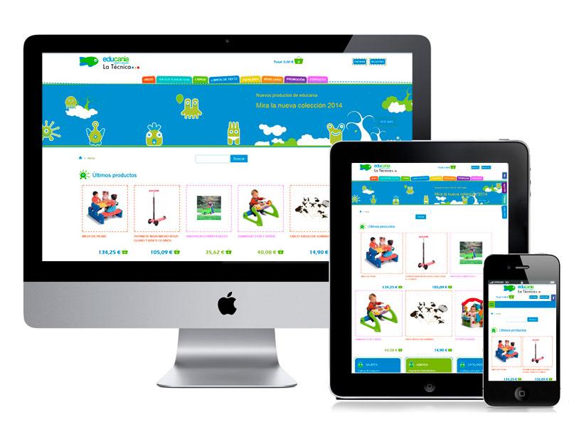 Diseño Tienda Online - Educania