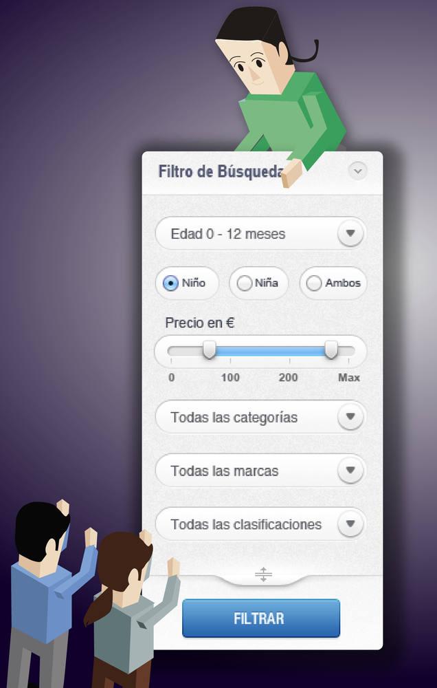 filtros de búsqueda