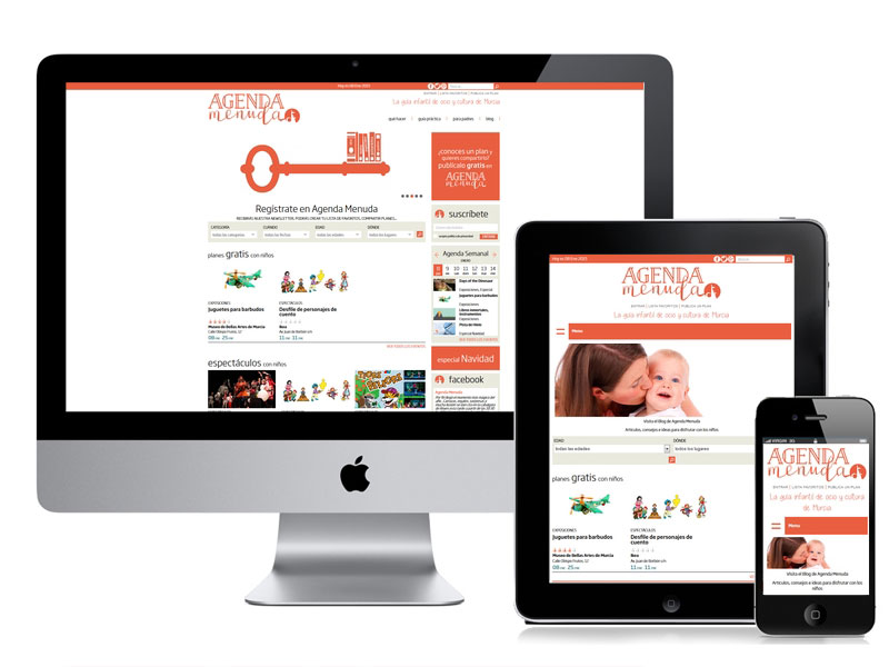 Desarrollo web para Agenda Menuda
