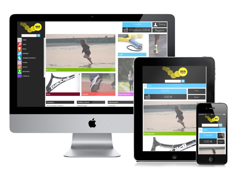 Diseño Tienda Online para MsDeportes