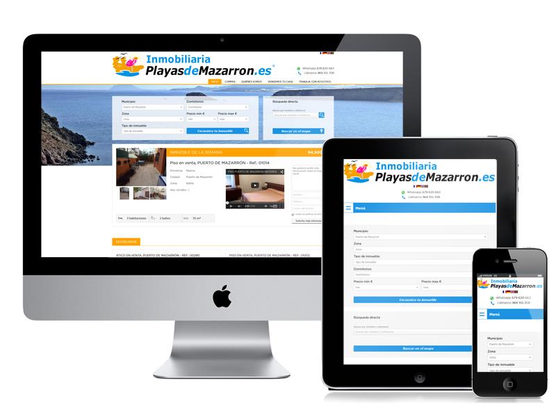 Actualización Web Inmobiliaria Playas de Mazarrón