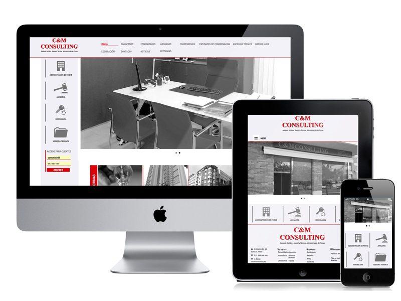 Diseño y desarrollo web C&M Consulting