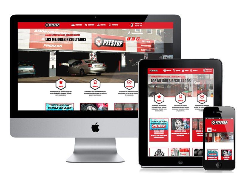 Diseño y desarrollo web PitStop