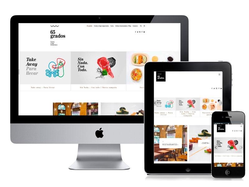 Desarrollo y diseño web Restaurante 65 grados