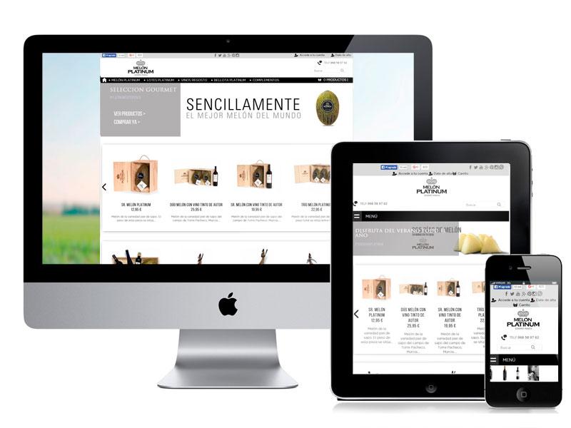 Desarrollo, diseño web y migración tienda online Melón Platinum
