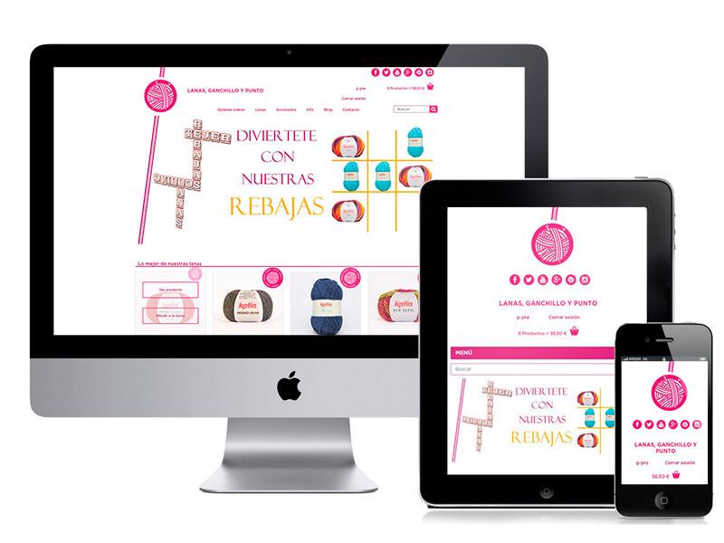 Diseño web Murcia tienda online Lanas, Ganchillo y Punto