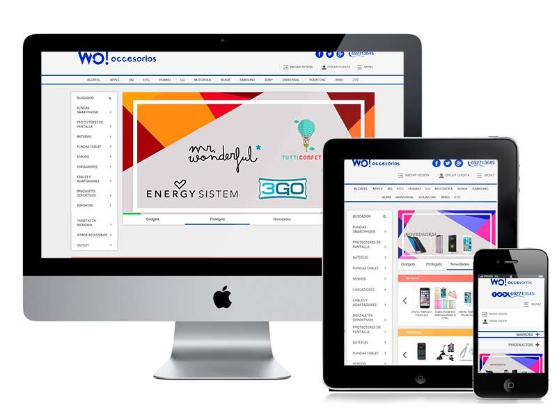 Diseño web y desarrollo Wo! Accesorios