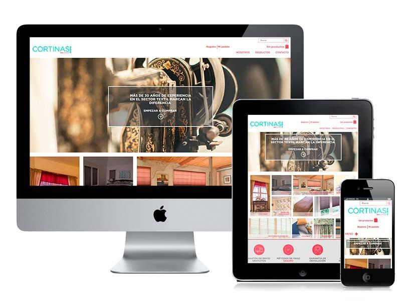 Diseño web y desarrollo Cortinas Murcia