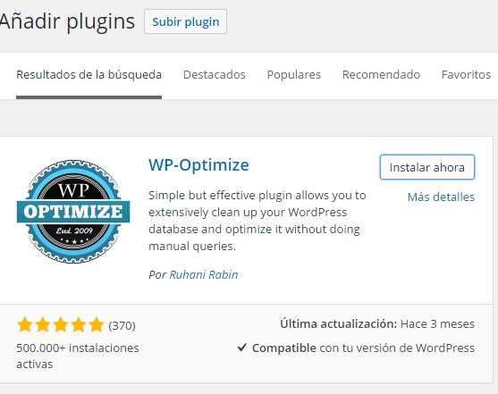 optimizacion tablas wordpress