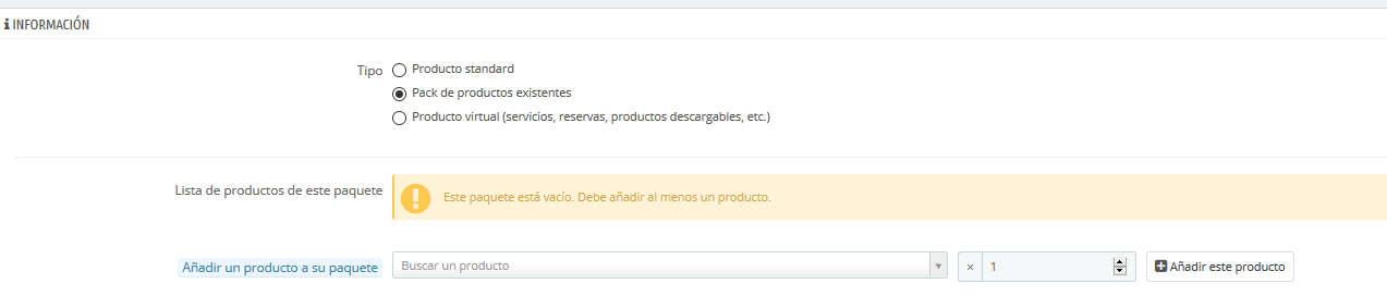 error base datos prestashop